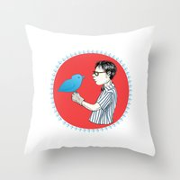 Nerd of Prey Throw Pillow