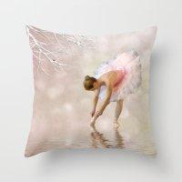 Dancer in Water Throw Pillow