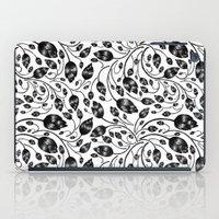 B&w Flora Pattern iPad Case
