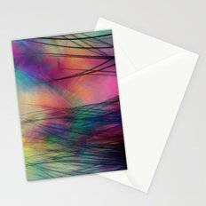 Tropical Feather Abstract III Stationery Cards