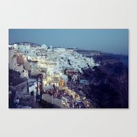 Fira at Dusk II Canvas Print