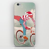 rushing home for christmas iPhone & iPod Skin