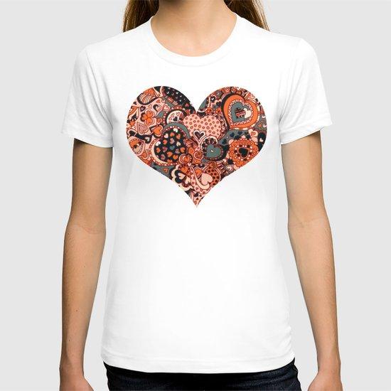 Doodle hearts T-shirt