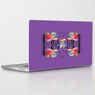 Raccoon Picnic In The Fo… Laptop & iPad Skin