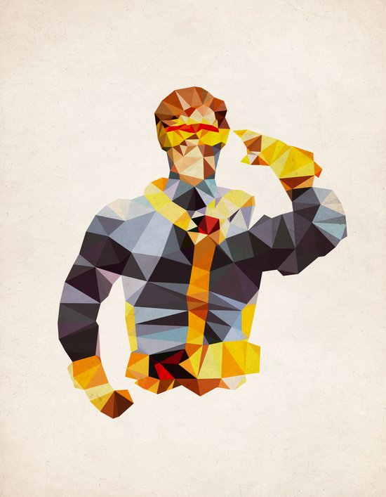 Polygon Heroes - Cyclops Art Print