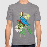 Bad Bad Birdy Mens Fitted Tee Tri-Grey SMALL