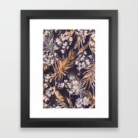 Golden oriental palms Framed Art Print