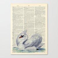 Vintage Swan Canvas Print
