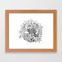 Swing (3D papercut) Framed Art Print