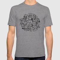 happy circle doodle Mens Fitted Tee Tri-Grey SMALL