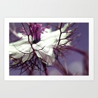 purple spikes Art Print