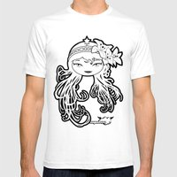 Lybee Black & White Mens Fitted Tee White SMALL