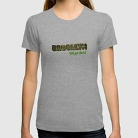 Brooklyn Womens Fitted Tee Athletic Grey SMALL