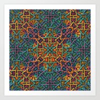 Colorful Fractal Pattern Art Print