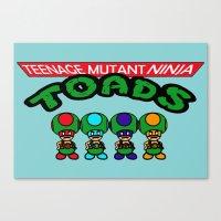 Teenage Mutant Ninja Toads Canvas Print