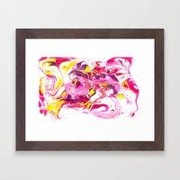 Marbling #6 Framed Art Print