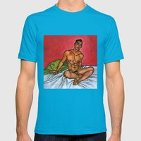 Presence Mens Fitted Tee Teal SMALL