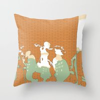 The Wall Throw Pillow
