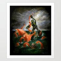 Sea Battle Masterpiece R… Art Print