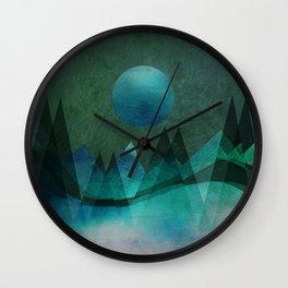 Wall Clock - Mountain Moon - Aurora Art