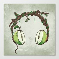 Apple Beats Canvas Print