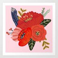Boho Pink  Art Print