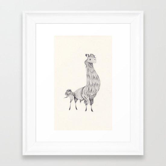 lama Framed Art Print