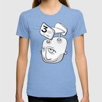 Will Will Womens Fitted Tee Tri-Blue SMALL