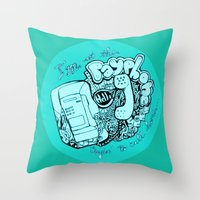 all of my change i've spent on you Throw Pillow