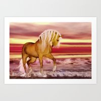 HORSE - Palomino Art Print