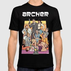 Archer Mens Fitted Tee Black SMALL