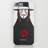 V for vendetta November 5 Minimal Poster iPhone 6 Slim Case