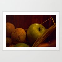 Apple And Orange Still L… Art Print