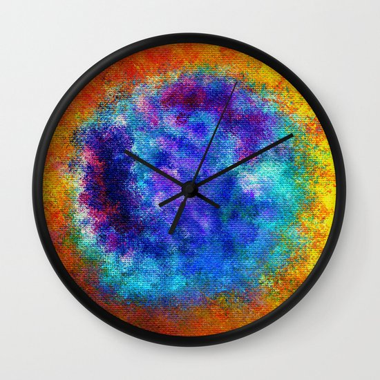 Plasmic Earth Number One Wall Clock