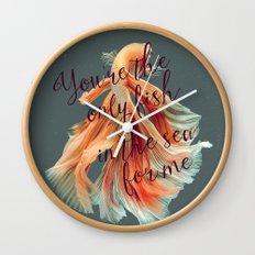 Fish in the Sea Wall Clock