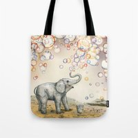 Tote Bag featuring Bubble Dreams by Ruta13
