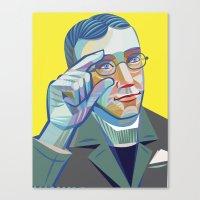 George Veditz's portrait Canvas Print