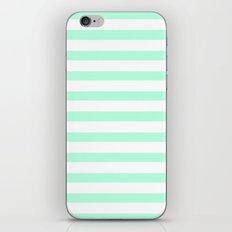 MINT STRIPES iPhone & iPod Skin
