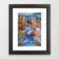 Kalispell Beer/Wine Open Framed Art Print