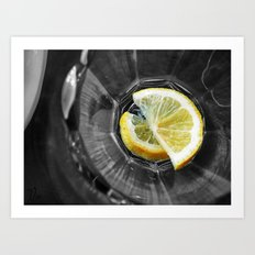 Yellow Lemons Art Print