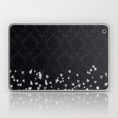 Diamonds On Black Damask Laptop & iPad Skin