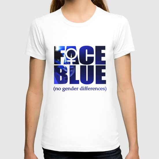Face in Blue (no gender differences)  T-shirt