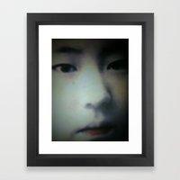 Little Asian Girl Framed Art Print