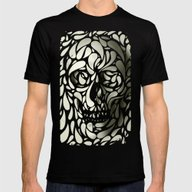 Skull Mens Fitted Tee Black LARGE