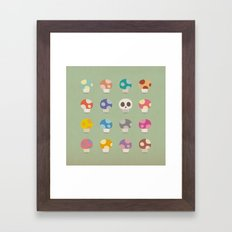 How to Tell Poison Mushrooms Framed Art Print