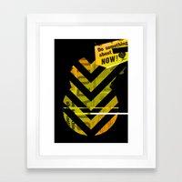 Spit Framed Art Print