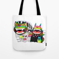 Totoro Fan Art (cat Bus)… Tote Bag
