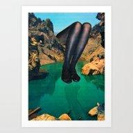 Su Pureza Y El Reflejo  Art Print