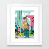 Wanna Get A Donut Framed Art Print