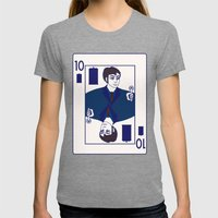 Ten of Tardis Womens Fitted Tee Tri-Grey SMALL